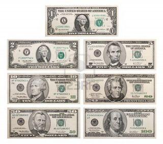 colección de billetes de dólares estadounidenses $
