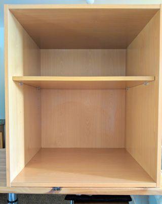Armario - Módul de cocina bajo encimera de madera