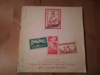 ALBUM VACIO ,SOLO 192 SELLOS Africa Occidental