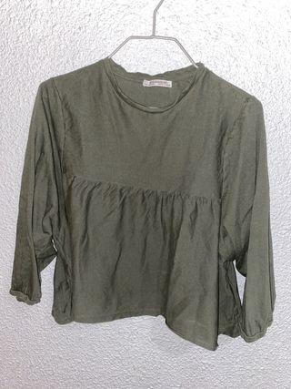 Camiseta Zara verde