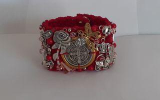 Bracelet pour femme, manchette avec cristaux et b