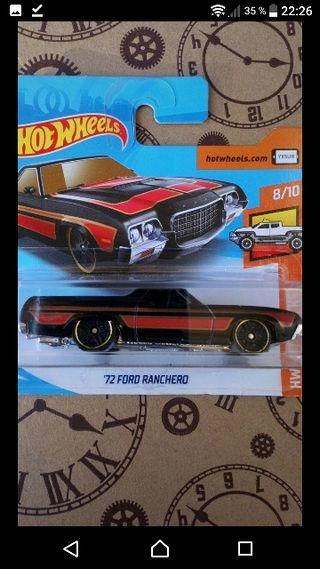 '72 Ford Ranchero Black&Red Hot wheels