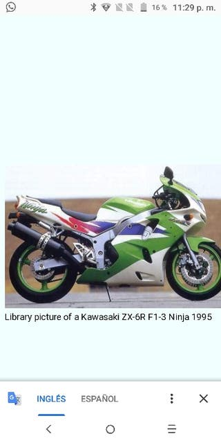 despiece Kawasaki ninja zx6r ninja.carenados ya no