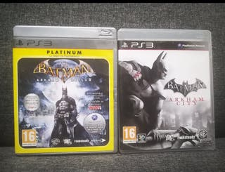 "Pack ""Batman Arkham City + Asylum"" (PS3)"