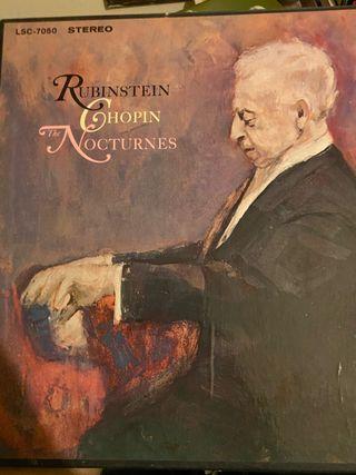 Rubinstein Ghopin Nocturnes gramophone disc