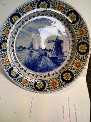 Ceramic antique 18th century plate