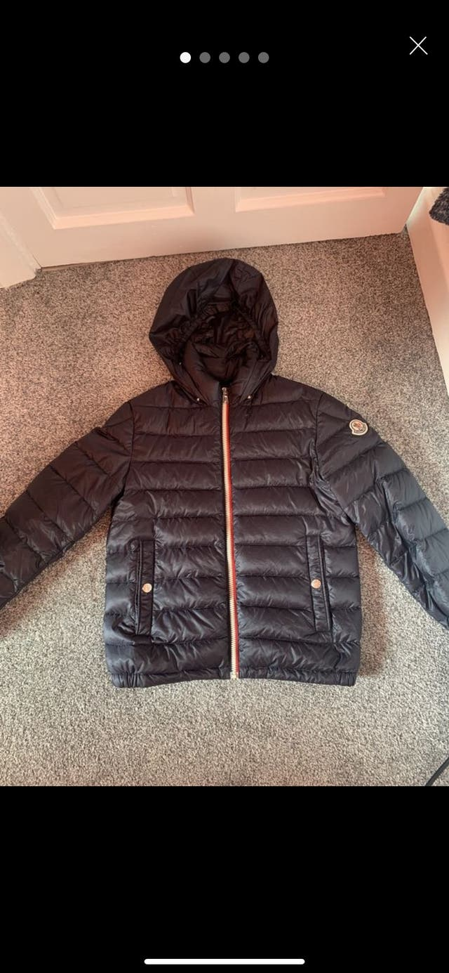 Boys Blue Moncler Coat