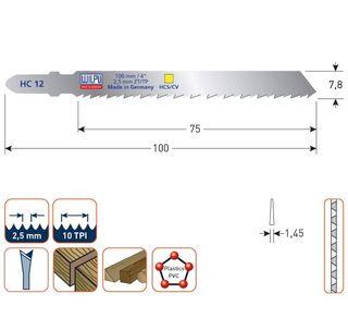PACK 5 SIERRAS CALAR WILPU HC12 MADERAS Y PLASTICO