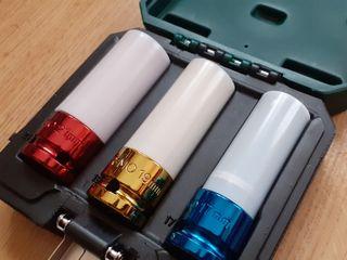Set 3 vasos de impacto con protector para llantas