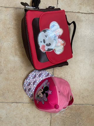 Gorra y bolso neceser Minnie Mouse a estrenar