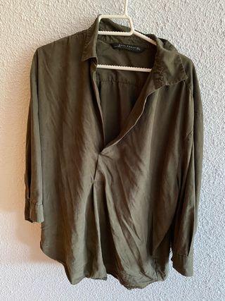 Camisa verde Zara
