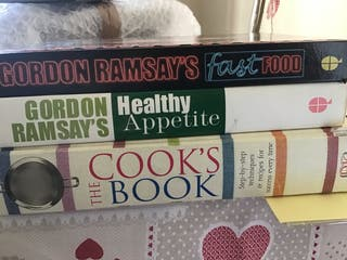 Hardcover cooking books