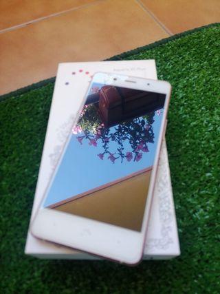 bq x5plus blanco y rosa
