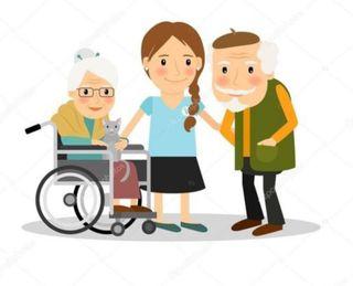Cuidadora de mayor
