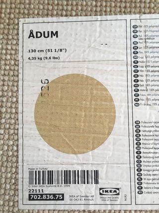 Alfombra redonda IKEA Adum
