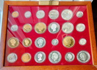 Historia de la peseta 24 monedas.