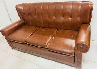 Sofa y butacas de piel, tipo Chester