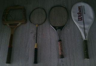 4 Raquetas de Tenis.
