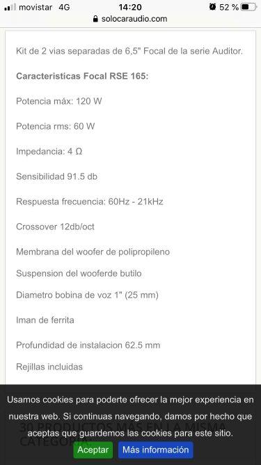 Altavoces de coche Focal Auditor RSE-165