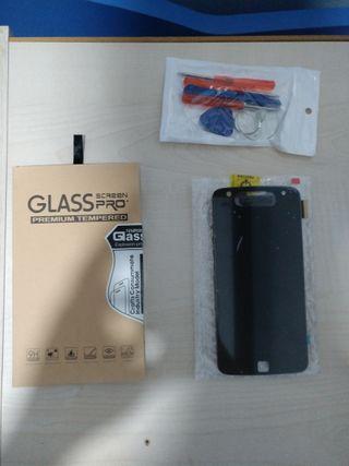 Pantalla Moto Z Play + cristal templado
