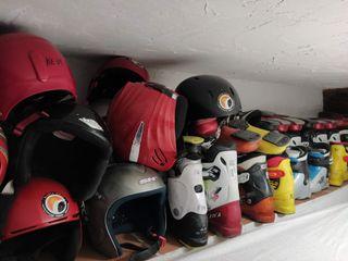 lote cascos de esqui, skate o moto adultos y niños