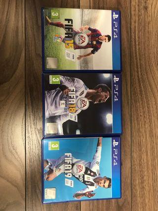 Fifa 15,Fifa 18, Fifa 19 para PS4