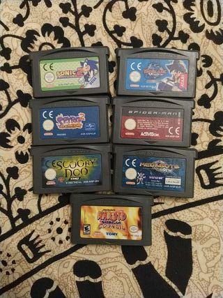 Lote GBA 6 juegos en inglés