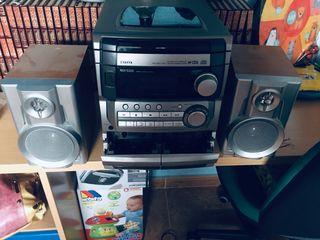Equipo de música CD y cassette
