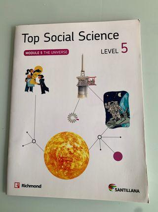 """Libro Top Social Science""""The Universe"""" 5° primaria"""