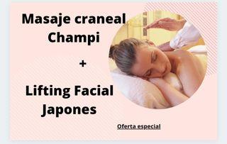 Masaje facial Japones +masaje Champi (en cabeza)