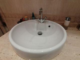 Lavabo FLAMINIA de cerámica blanca