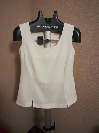 blusa blanca de Carolina Merino