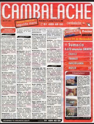 Vendo periódico Cambalache