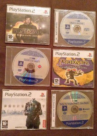 Lote 6 videojuegos PlayStation 2 ps2