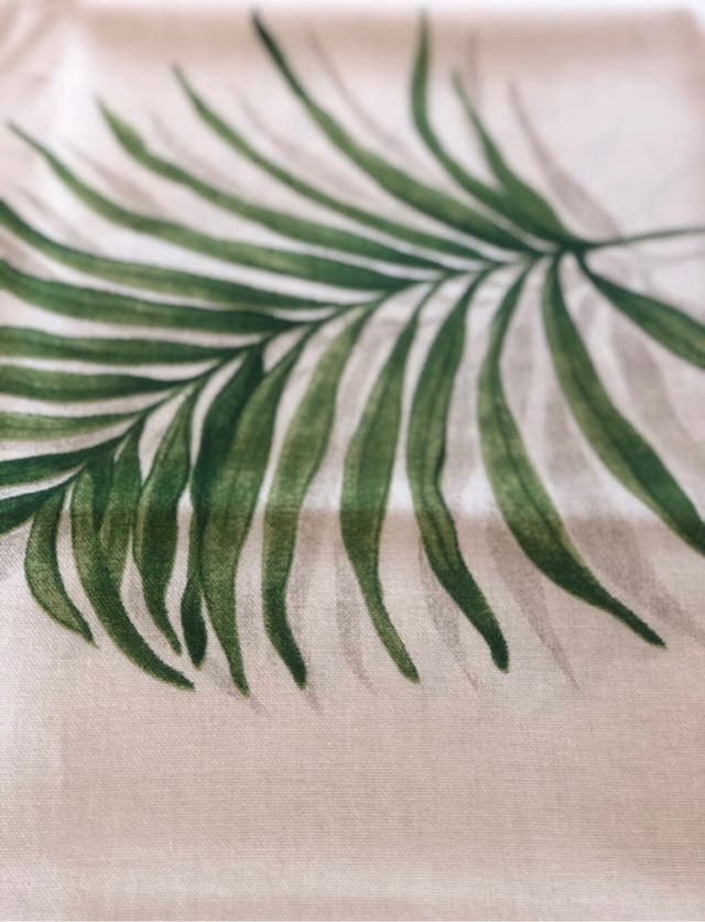 Mantel hoja palmera
