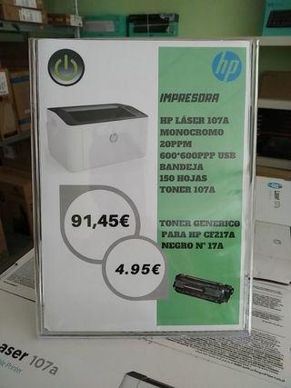 Impresora HP láser monocromo