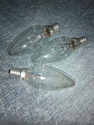 regalo 3 bombillas, forma de vela