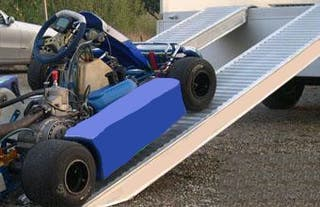 Rampas de aluminio karts quads motos coches
