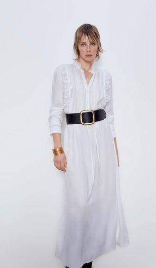 Vestido largo encaje Zara M