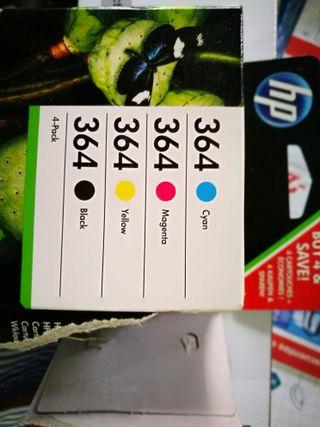 Cartucho pack 4 colores tinta impresora hp