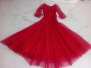 Precioso vestido , largo de fiesta rojo