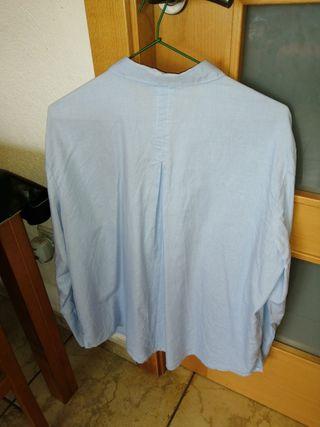 Camisa azul Mango XL