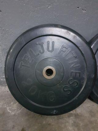 Disco pesa 20 Kg Caucho