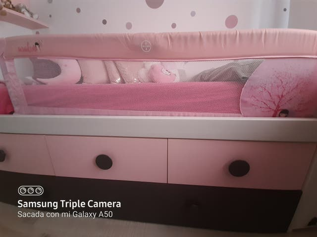 Barrera cama niña