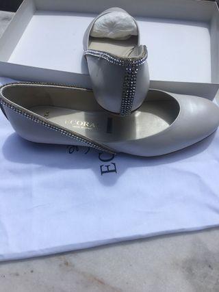 Zapato novia sin usar piedras swarovski