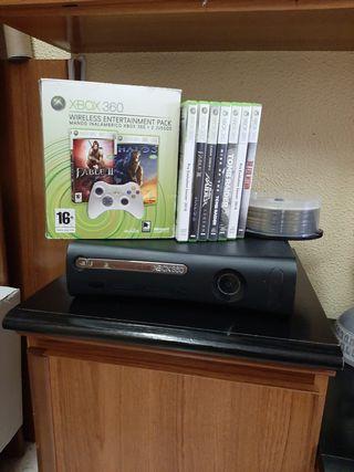Xbox 360 + 2 Mandos + Juegos