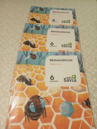 libro 6 primaria matemáticas más savia
