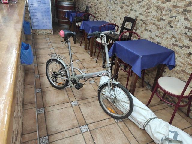 bicicleta plegable semi-nueva