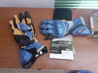 guantes piel moto