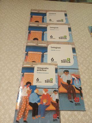 libros de lengua 6 primaria más savia